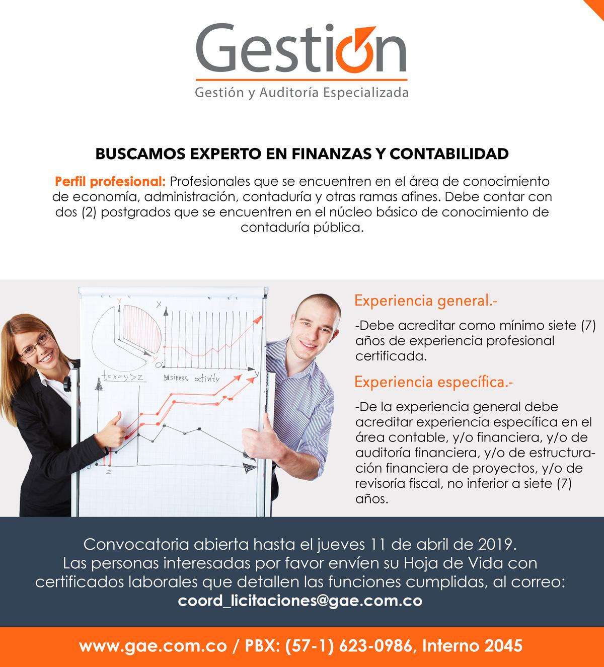 Gestión y Auditoría Especializada - Experto en finanzas y contabilidad